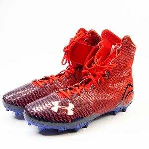 Under Armour Highlight Red Navy Blue Cleats 12.5